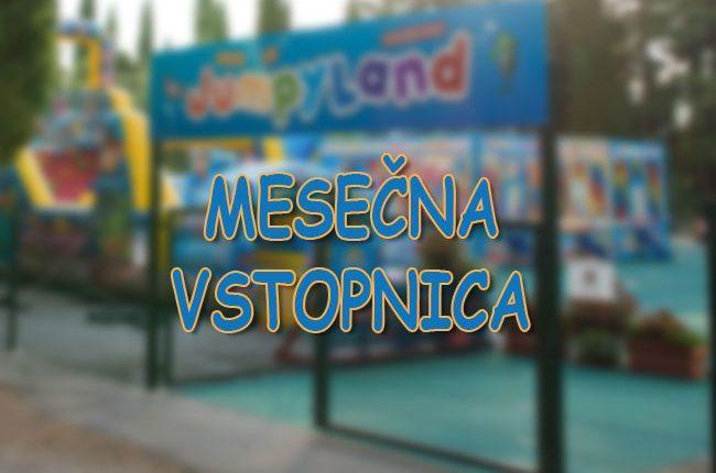 otroški park JumpyLand Adria Ankaran - napihljiva igrala, trampolin, kotiček za najmlajše, rojstni dan, zabava, mesečna vstopnica